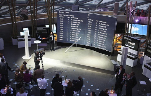 Dynamic powerpoint presentation on a very large television wall